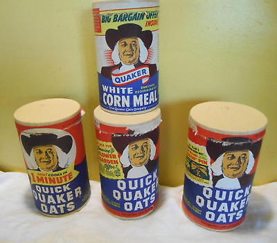 lot of 4 Vintage Quaker Oats Cardboard Box Containers Oatmeal