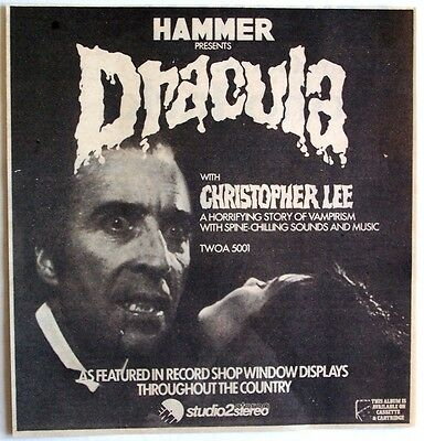 HAMMER PRESENTS DRACULA 1974 original Advert CRISTOPHER LEE