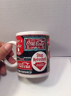 Coca Cola Brand Sign Art Cup Mug