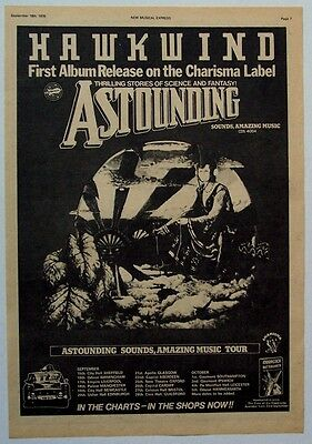 HAWKWIND 1976 Poster Ad ASTOUNDING SOUNDS AMAZING MUSIC