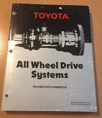 Toyota All Wheel Drive Systems Technician's Handbook from 1988