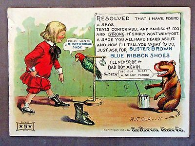 rare first 1904 BUSTER BROWN'S Blue Book of Jokes and Jingles Brown Shoe Co.