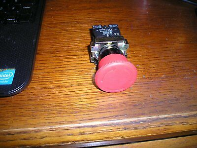 22mm NC Red Mushroom Emergency Stop Push Button Switch 600V 10A ZB2-BS542