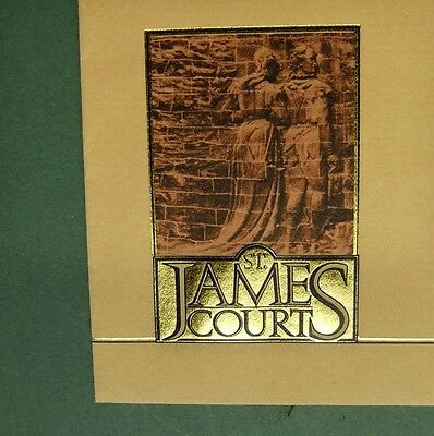 JAMES COURT HOTEL, LONDON - original ENVELOPE in mint condition, glue intact