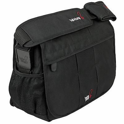BabaBing! DayTripper Deluxe Paternity Baby Changing Satchel / Bag - City Black