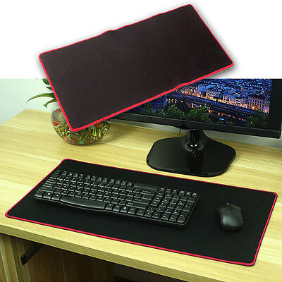 Black Rubber Gaming Mouse Pad Mat for PC Laptop Computer Large Size 600*300mm