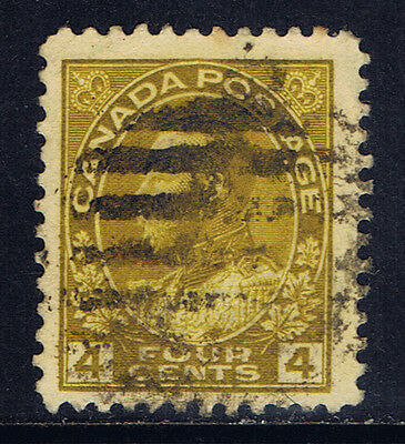 Canada #110(4) 1922 4 cent olive bistre King George V Used CV$6.00