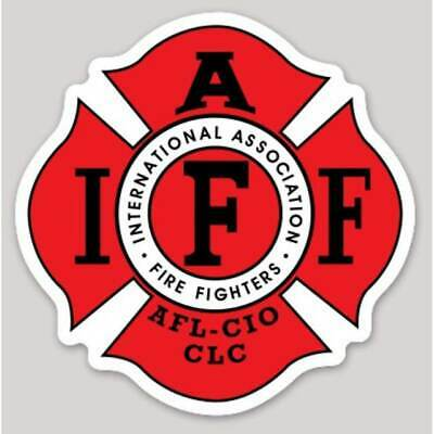 4 Inch Non-Reflective IAFF Red Firefigher Maltese Sticker Decal