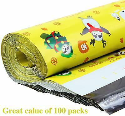 """100 12""""x15"""" Poly Mailers Shipping Envelopes Self Sealing Plastic Mailing Bag"""