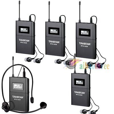 TAKSTAR WTG-500 Wireless System Tour Guide Teaching Transmitter +4x Receiver【AU】