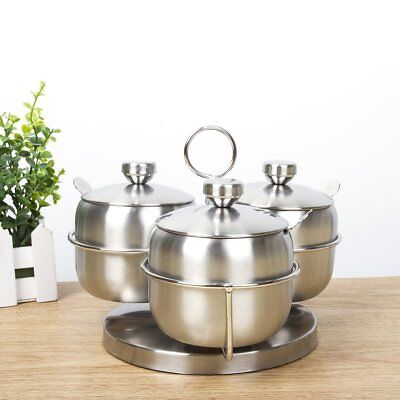 304 Stainless Steel Condiment pots Seasoning Container Large Capacity