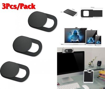 3Pc WebCam Shutter Covers Web Laptop iPad Camera Secure Protect your Privacy New
