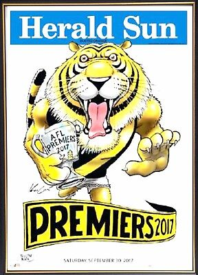 Richmond 2017 Afl Premiers Herald Sun Print Unframed - Dustin Martin Cotchin