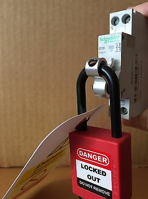 Safe Isolation Electrician MCB / RCBO / RCD Lock off lock out kit *FREE POSTAGE*