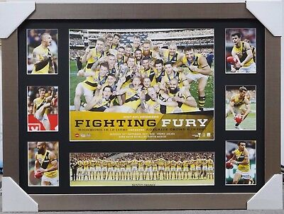 Richmond 2017 Afl Premiers Collage Print Framed - Dustin Martin Trent Cotchin
