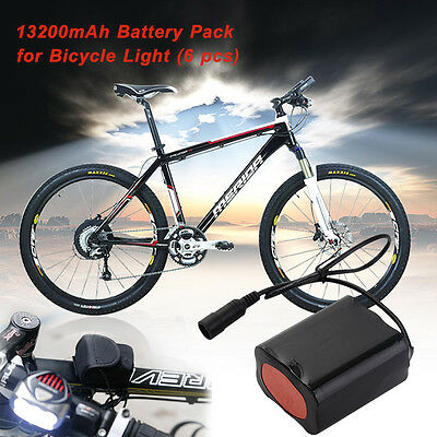 Rechargeable Battery Pack 13200mAh 8.4V Pouch CREE XML-T6 LED for Bike Head Lamp