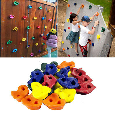 Kids Rock Wall Hand Climbing Holds with Hardware Screw New