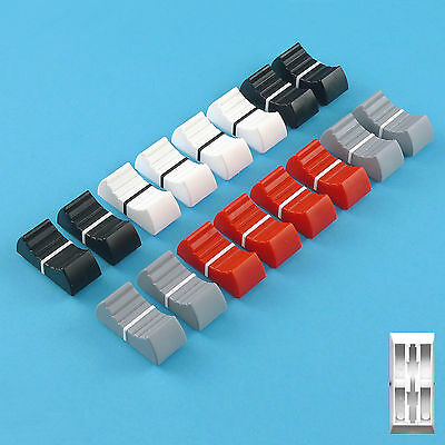 PENNY and GILES Fit - Mixer Slider Fader Knobs - Mixed Colours X 16
