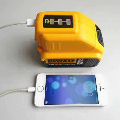 Portable USB CHARGING BATTERY ADAPTER for DEWALT DCB090 POWER BANK Charger
