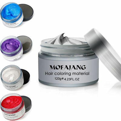 Professional 5 Color Hair Modeling Pomade Wax Natural Hair Styling Washable*Hot
