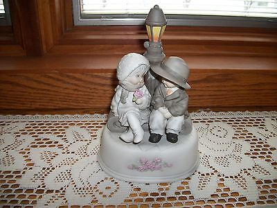 Kim Anderson's Pretty as a Picture -  Boy and Girl by Lamp Post Music Box