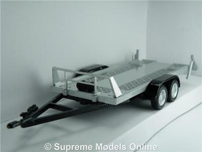 Car Vehicle Trailer Model 1:43 Scale Flat Bed Cararama 4 Wheel Pull Out Ramps K8