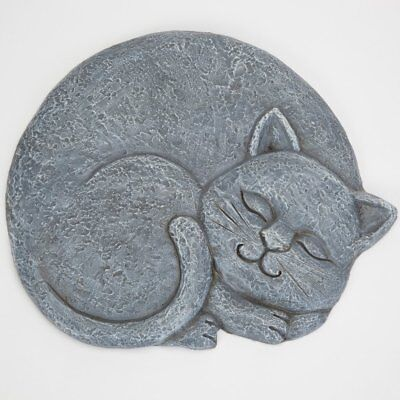 Bits and Pieces - Sleeping Cat Stepping Stone - Facing Right - Decorative Garden
