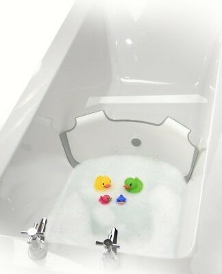 ** NEW ** BabyDam Bathwater Barrier - Convetible Baby Bath Tub - (White|Grey)