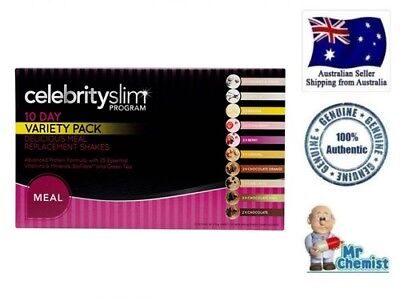 Celebrity Slim Rapid Weight Loss Shakes 10 Days Variety Pack 20 x 55g days