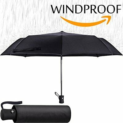 Sale Black Umbrella - Compact Folding Auto Open Close Windproof Men Women
