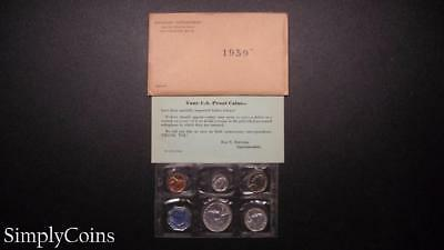 1959 Proof Set ~ Original Envelope With COA ~ US Mint Silver Coin Lot SKU-518