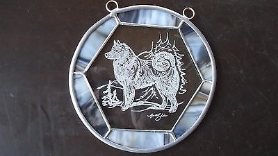 Finnish Spitz - New Design, beautifully Hand engraved panel  by Ingrid Jonsson