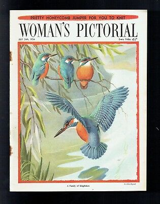 KINGFISHERS by  John Rignall on  front cover  WOMAN'S PICTORIAL