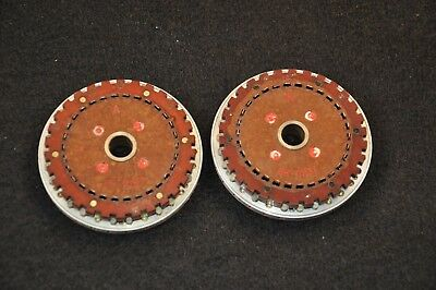 Soviet M-125-3 Fialka Cipher Cryptograph Coding Machine PAIR of Wheels, Marked Ж