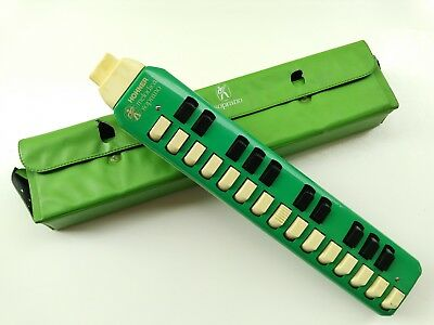 Vintage Hohner Melodica Soprano Light Green Made in Germany !!