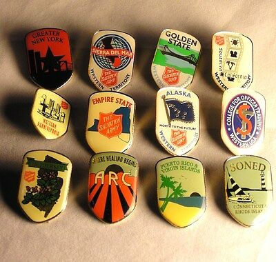 Salvation Army  SET OF 12 DIVISIONAL PINS FROM NATIONAL CONGRESS
