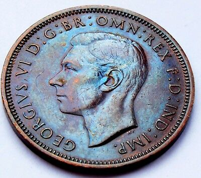 1944 - King George VI - Half penny high grade coin