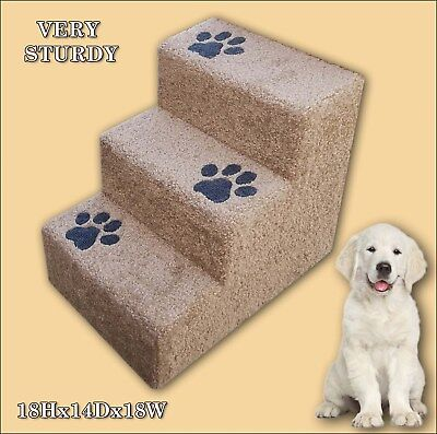 Dogs Favorite Pet Stairs, 3 Steps, Ladder for Dogs.Very sturdy, built to last.