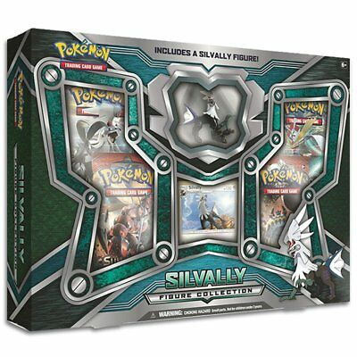 POKEMON TCG Silvally Figure Collection Box w/4 Booster Packs