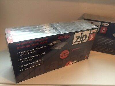 Zip Disk - Iomega x 10 pack - 100mb formatted for Macintosh  (can format for PC)
