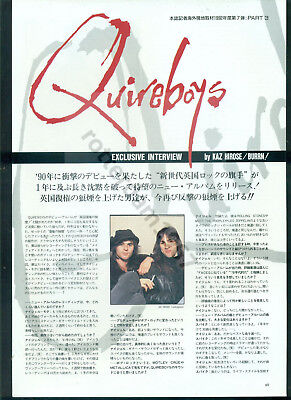 Quireboys - Clippings From Japan Magazine Burrn!