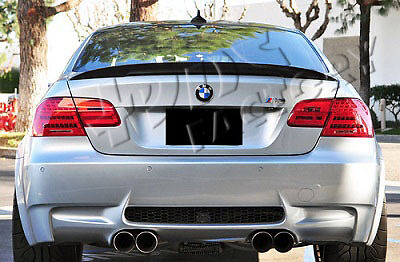 Real Carbon Fiber Ducktail Boot Spoiler BMW E92 3 Series Coupe High Kick M3