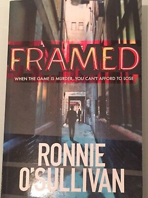 'Framed' Book Signed By Ronnie O Sullivan