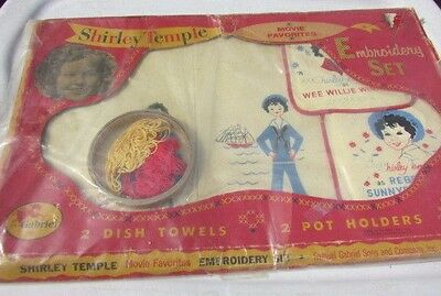 Shirley Temple Doll Rare Embroidery Set Gabriel Movie Favorites 1960