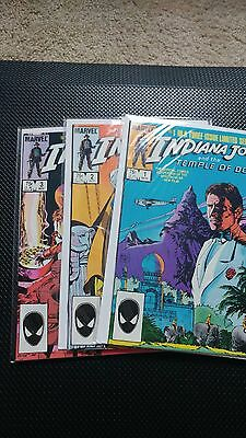 Indiana Jones and the Temple of Doom #1-3 NM 1984