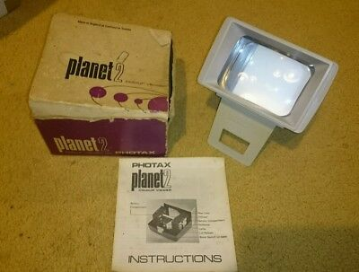 """Photax """"Planet 2"""" 35mm Colour Slide Viewer, Boxed"""