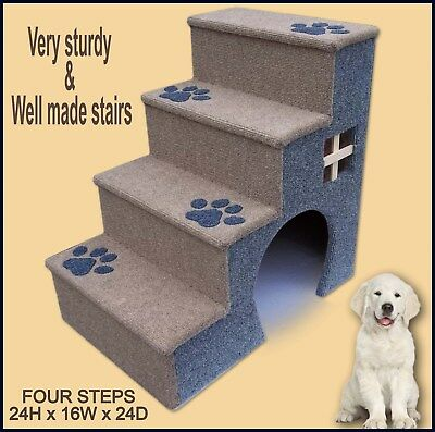 Pet step, 24 tall dog steps, pets stairs, Dog Stairs with archway on the side.