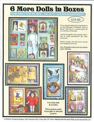 "Jean Nordquist's 6 MORE DOLLS IN BOXES for you to make for dolls 2"" to 12"""