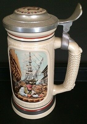 "The Building Of America Stein Collection ""The Shipbuilder"" Avon 1986 Brazil"