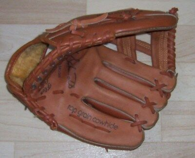 Franklin Baseball Glove No 4357  Autograph Model  Flex Action Top Grain Cowhide